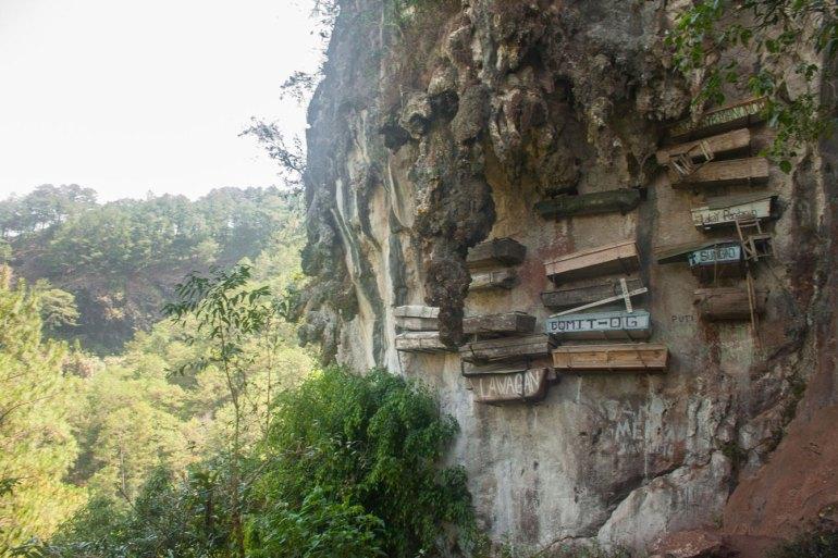 Sagada's hanging coffins