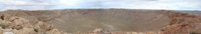 A Hugin produced panamaric of the Meteor Crater.
