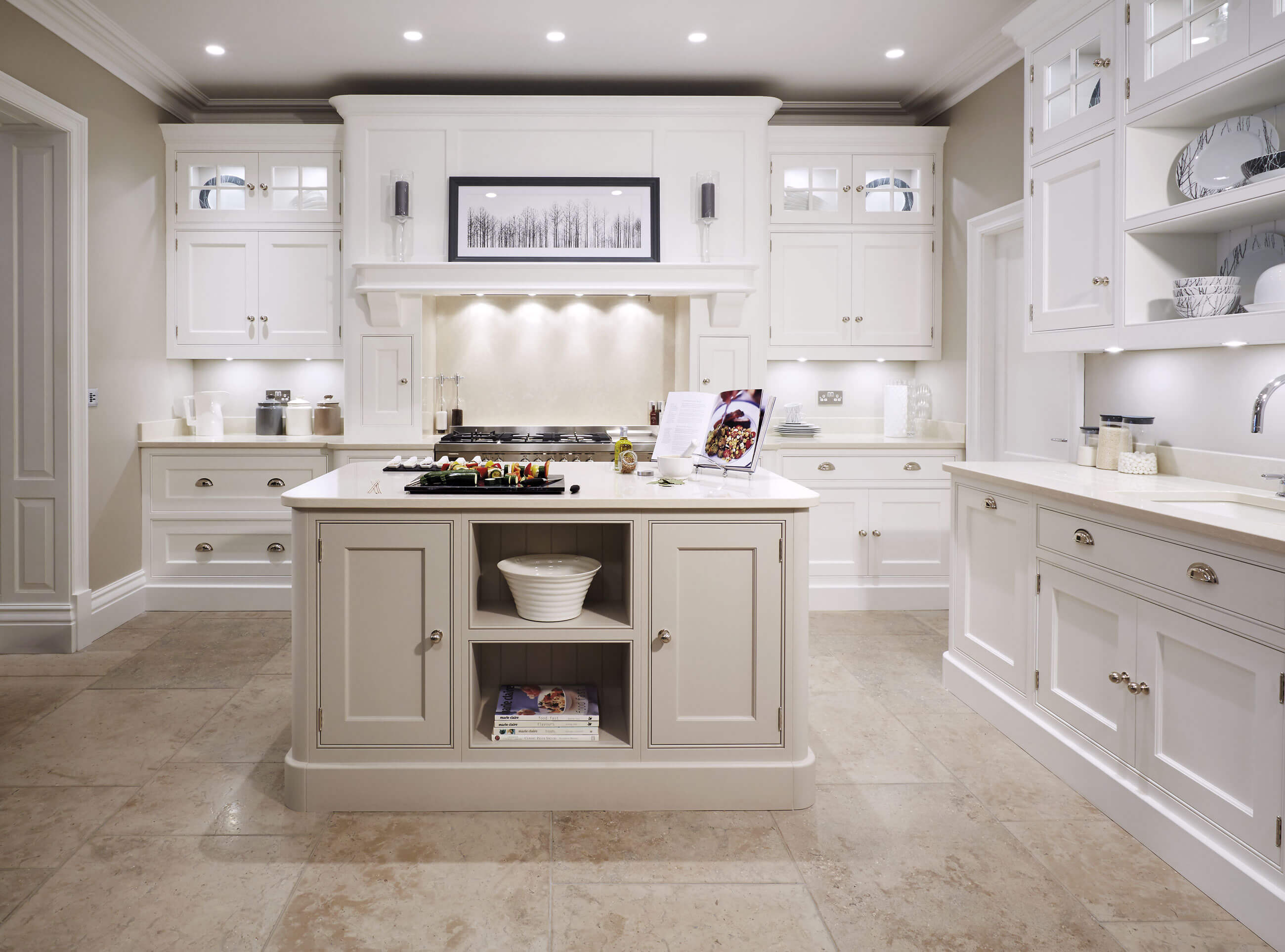 Cream Painted Kitchen  Tom Howley