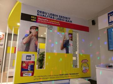 Mortar Utama-Weber Perkenalkan MU 480 LowDust dan Mobile Application MU-Weber di Pameran Megabuild