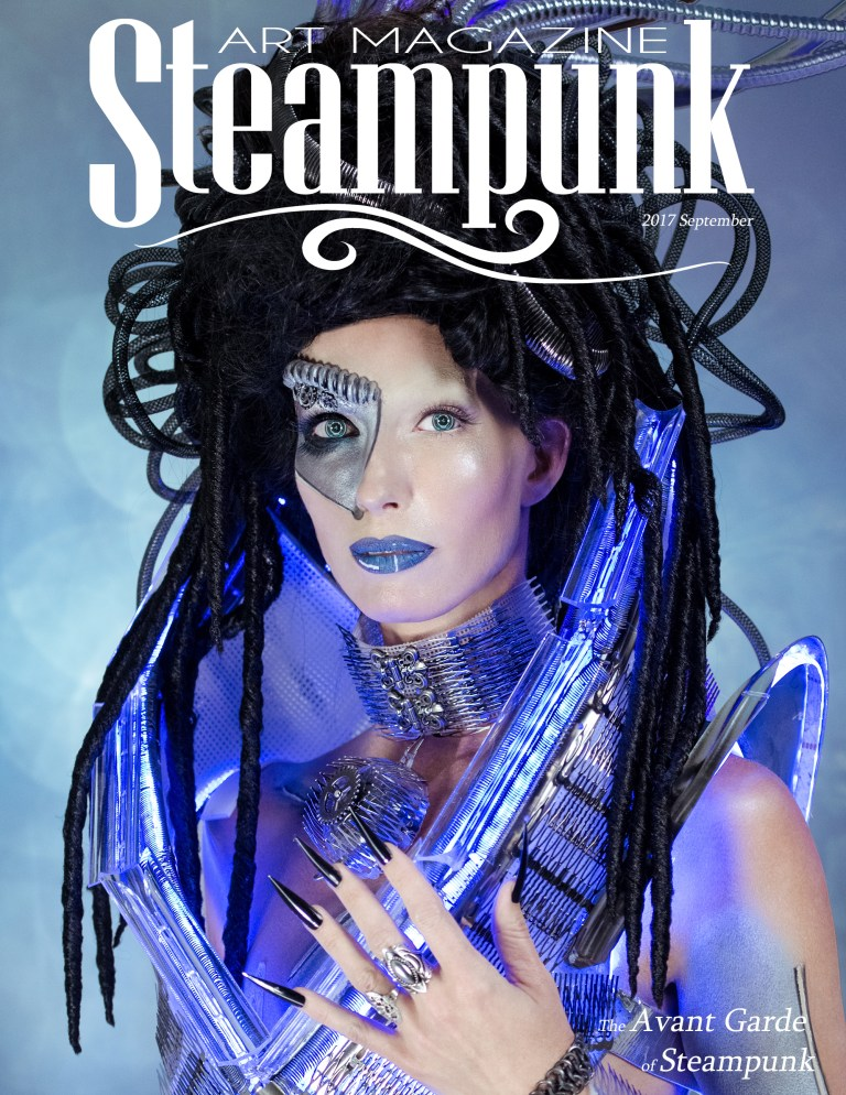 Steampunk Art Magazine | 2017 September Concept & Photography | Tom Libertiny Model | Stefanie Kwiatkowski Costume | Andrew Martina MUHA | Charlee HM Assistant MUHA | Tracy Noe Manicurist | Tiffany E. Smith