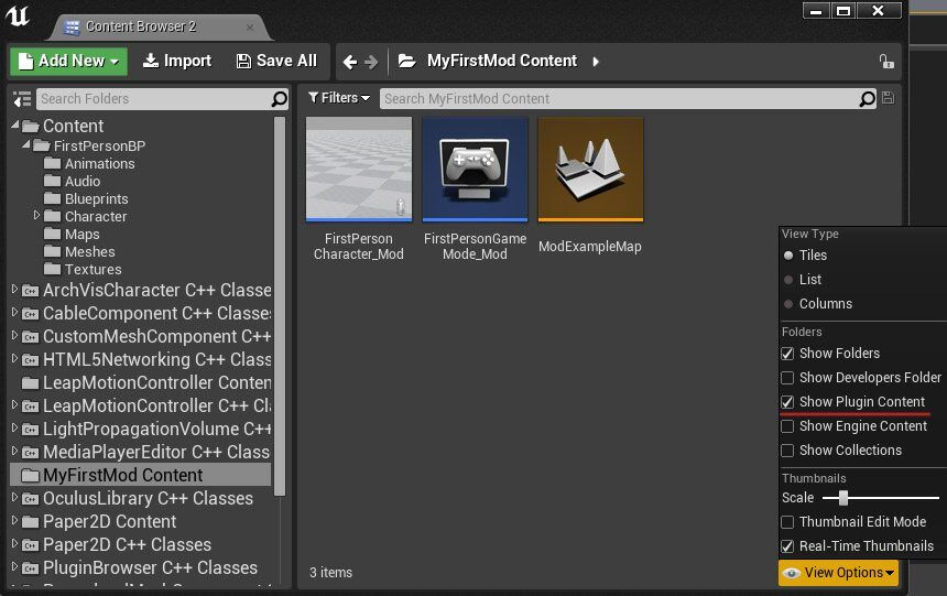 Add mod support to unreal engine 4 projects tom looman plugin content malvernweather Choice Image