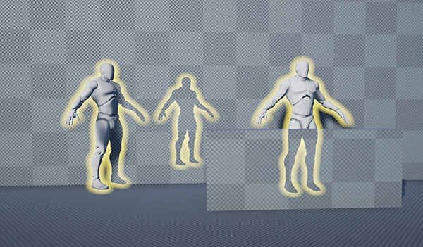 Soft outlines in Unreal Engine 4