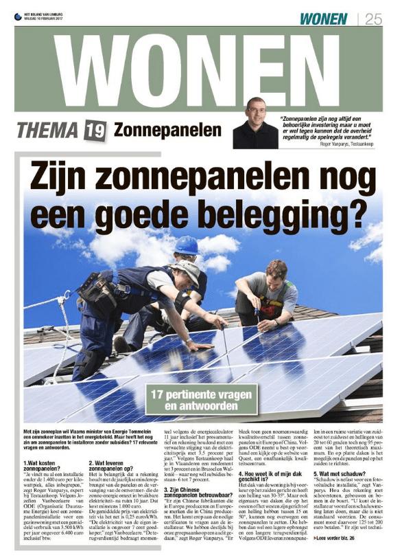 krantenartikel uit Het Belang van Limburg