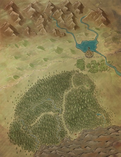 """a Stretch goal map for AAW Games """"Snow White Kickstarter"""" (c) AAW Games LLC"""