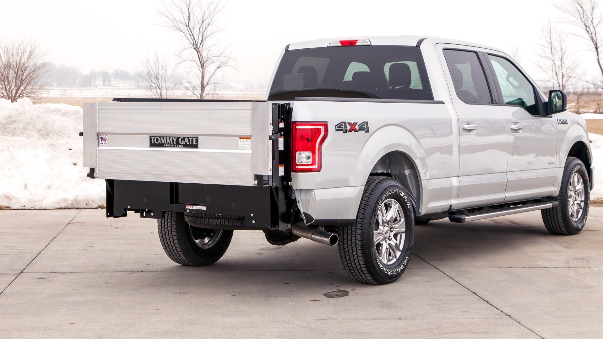 hight resolution of  tommy gate g2 series liftgate in the closed position on a ford f 150