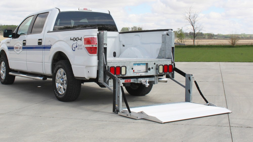 medium resolution of  ford pickup truck galvanized g2 series liftgate in the down position