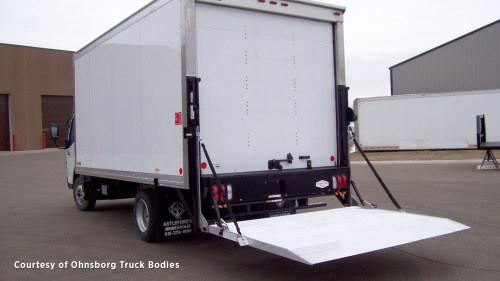 small resolution of  liftgate for straight truck standard railgate in the down position