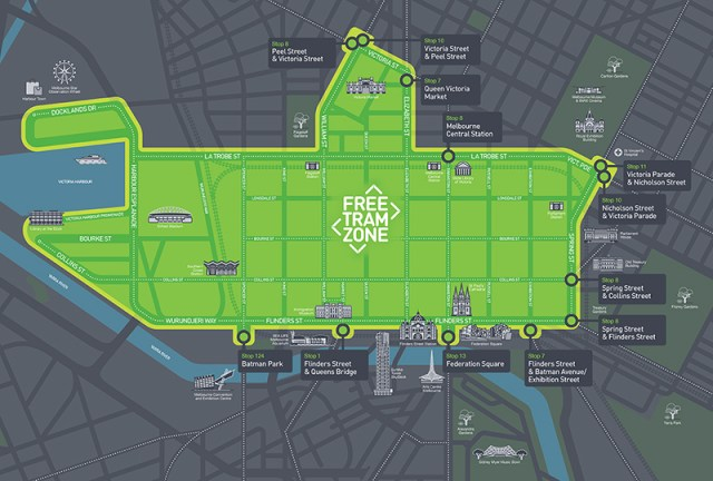 Melbourne Free Tram Zone