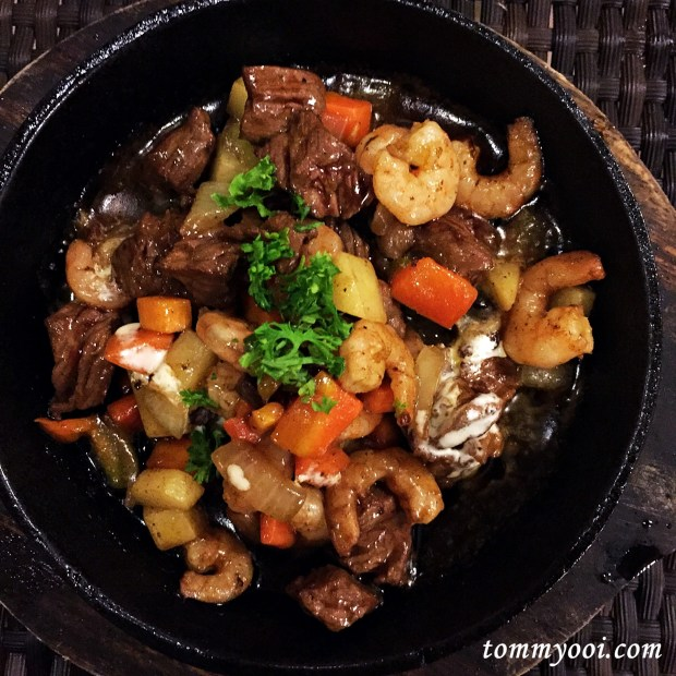 Teppanyaki Beef & Prawns