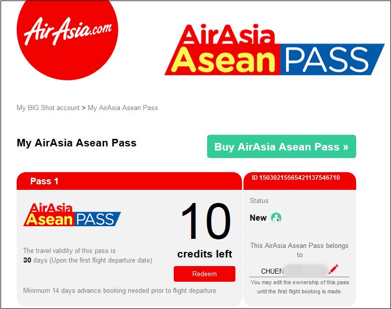 AirAsia ASEAN Pass 8