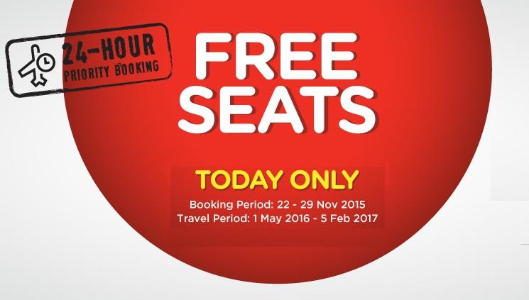 airasia free seats