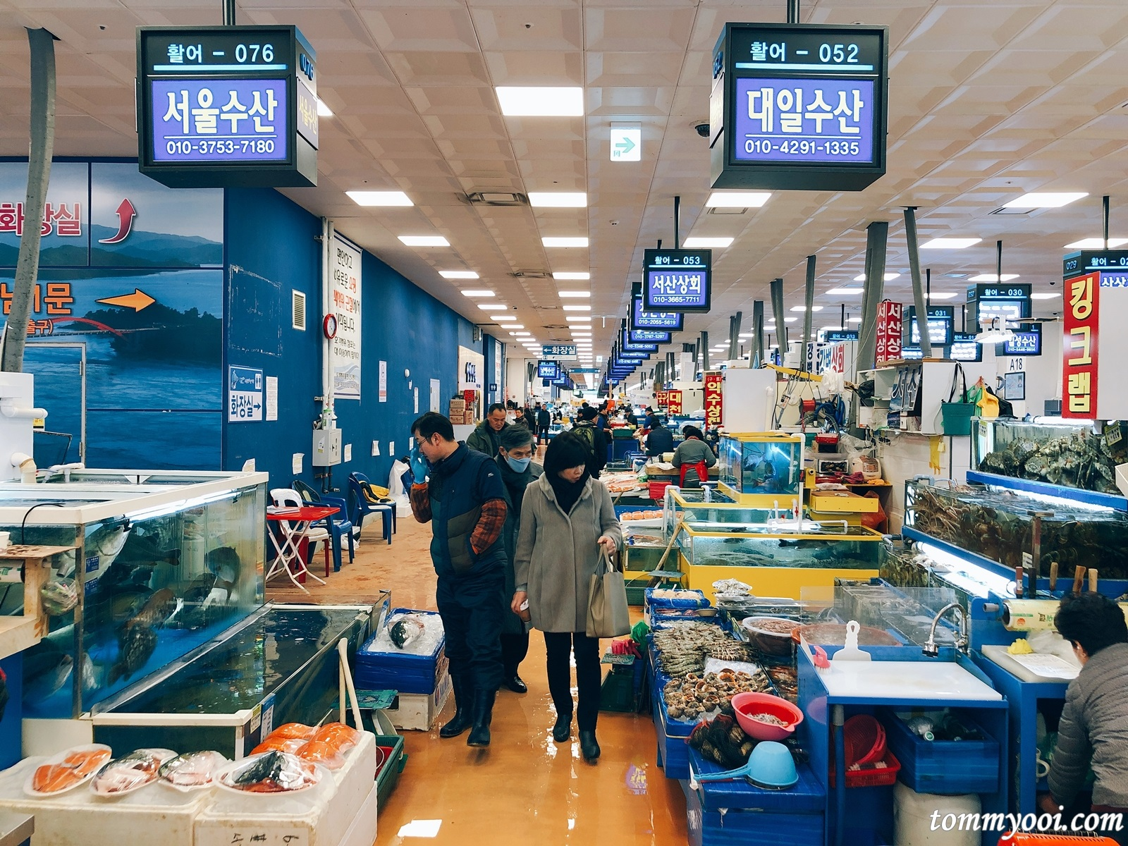 Noryangjin Fish Market is one of South Korea s biggest fish market trading approx 300 tonnes of marine products daily The fish market sells a wide variety