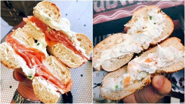 New York Bagel with Smoked Salmon & Cream Cheese