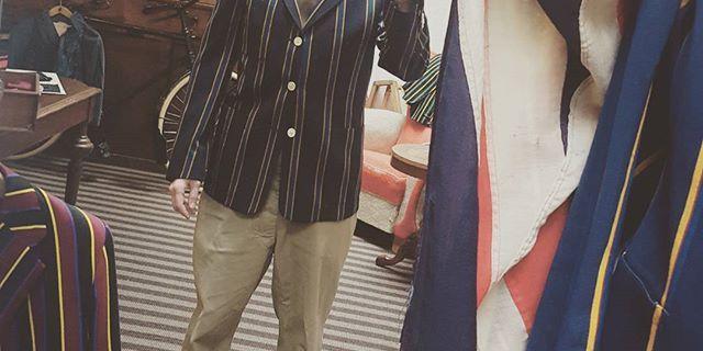 I'm starting a club #clubblazer #club #britishfabrics #britishsportswear #madetomeasure #prinsenstraat #abrahammoonfabrics