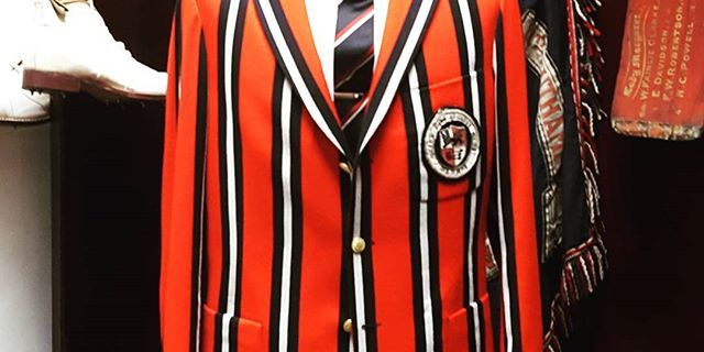 Red,  black and white,  the colour combination that stops traffic in it's tracks.  #rowingblazer #madetomeasure #lochcarron #dsrv #prinsenstraat #clubclothier #cricket #rowingblazer #oneofakind