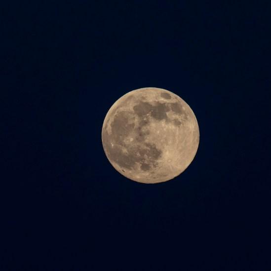 Månen over Rørvig d. 27 april. 2021. 1