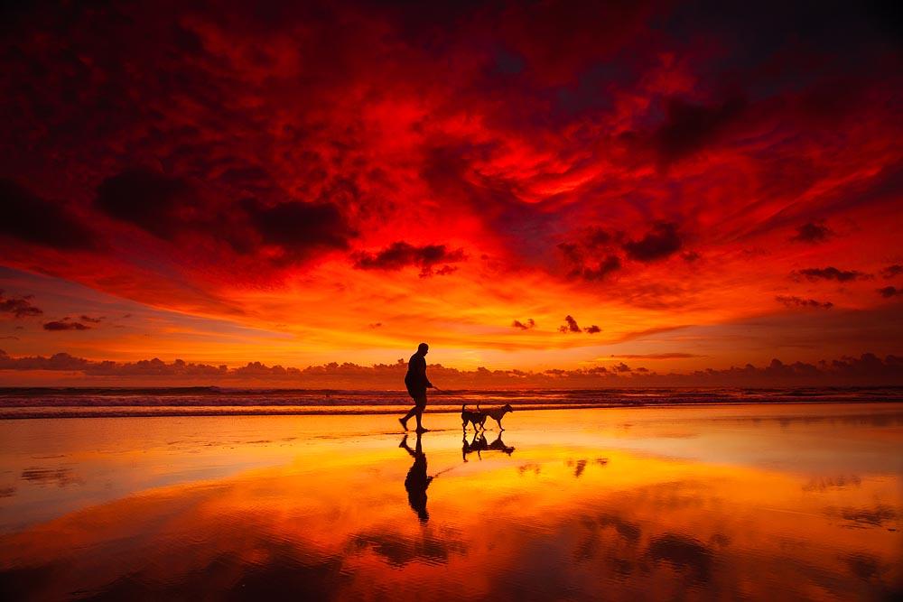 Indian Ocean Lights Best Sunset Ive Seen at Kuta Beach