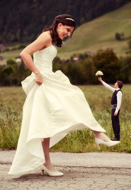 Lustige Hochzeitsfotos  Hochzeitsfotograf Tommy Seiter
