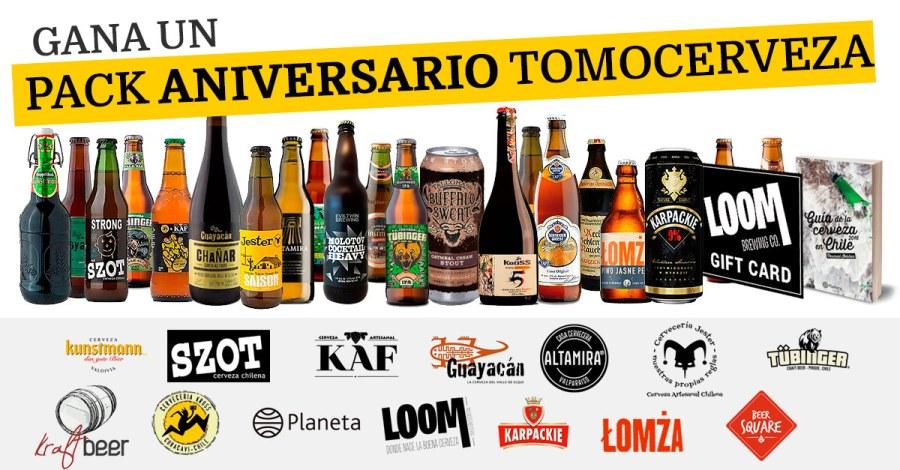 Gana un Pack Aniversario TomoCerveza
