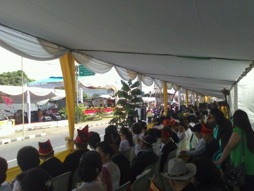 Suasana di muka Lapangan Rindam Pangung utama #TIFF2012