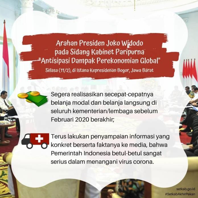 Arahan Presiden RI, Dampak Perekonomian Global