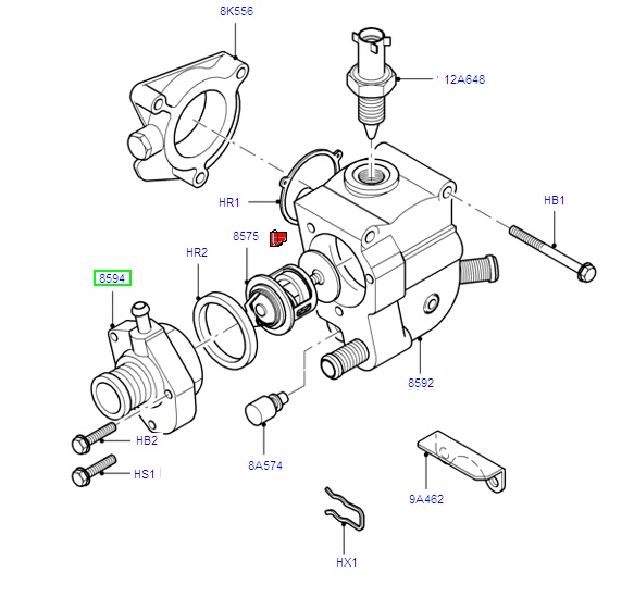 Thermostat Housing 1.8 zetec 1995-2005 Focus NON GENUINE