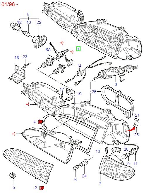 Citroen C2 1.1P Rear Brake Shoes (Axle Set) 2003/2009