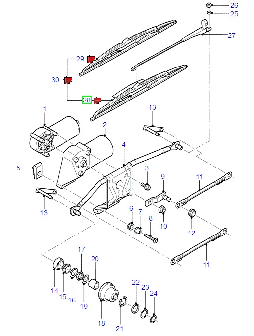 19 Ford Premium Wiper Blade Kit (1 blade) 1996-2008