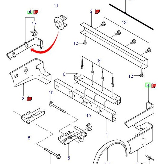 Ford Fiesta Front Bumper Diagram Fiesta ST body kit parts