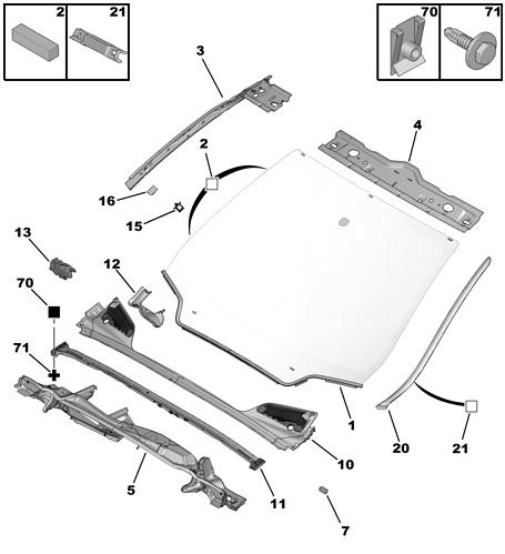 Citroen C4 III Windscreen Trim, 5 Door ((N/S) 2009