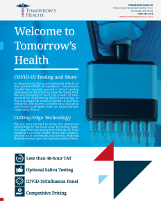 COVID-19 Testing Services Brochure