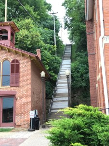 Galena, stairs that Grant used to walk up and down every day.