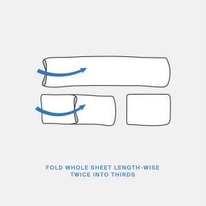 folding fitted sheet