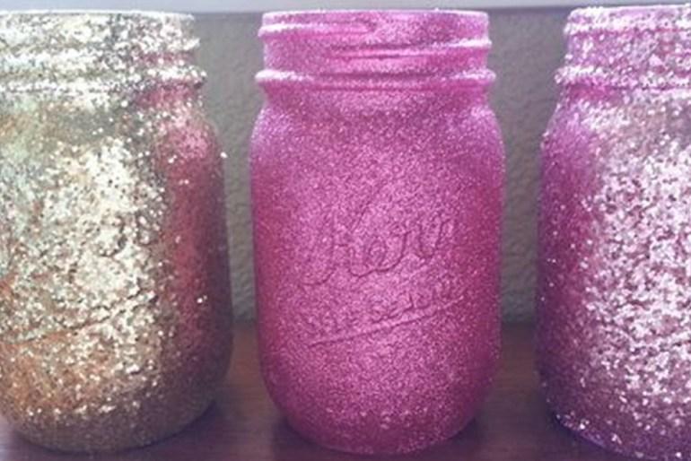 DIY Room Decor Tip #1 - Glitter Jars