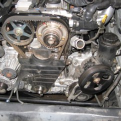 1jz Vvti Wiring Diagram Pdf Vw Beetle 2000 Under The Hood Perfect Timing Belt Service For Toyota S Photo 6 You May Need A Puller To Get Pulley Off Without Moving