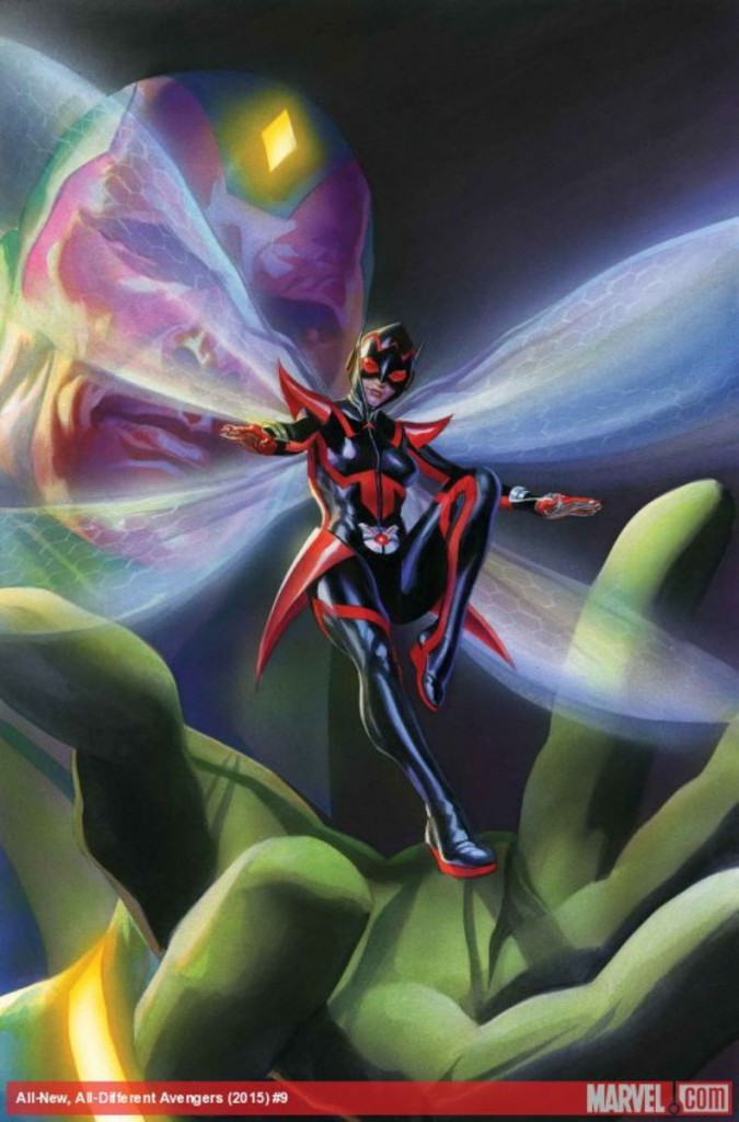 Alex Ross, portada del All-New, All-Different Avengers #9 con la nueva Avispa