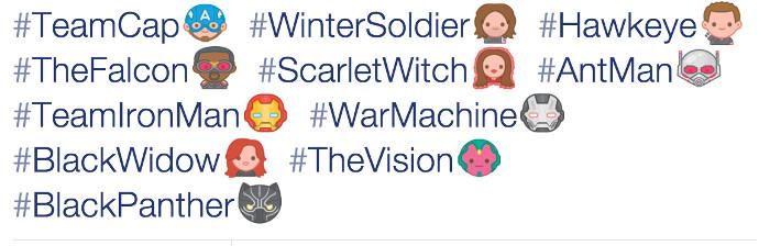 Twitter Emojis Civil War