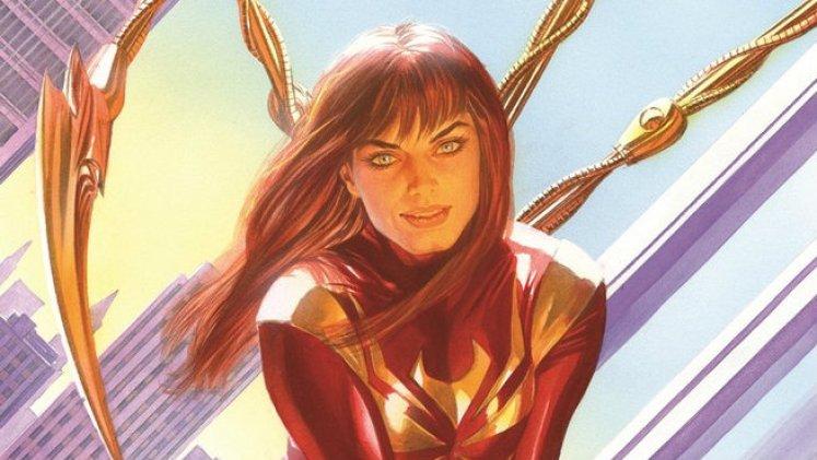 Mary Jane con la Iron Spider