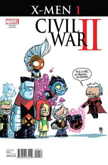 Civil War: X men variant 4