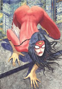 Portada Alternativa de Spider-Woman de Manara
