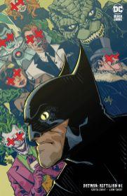 Portada Batman Reptilian 1 de Garth Ennis y Liam Sharp