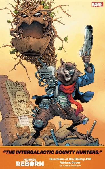 Portada Heroes Reborn de Carlos Pacheco Guardians of the Galaxy 13 variant cover
