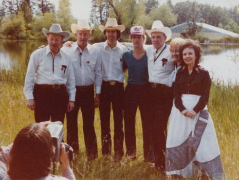 Tiny Moore's country swing band in Grass Valley, circa 1978