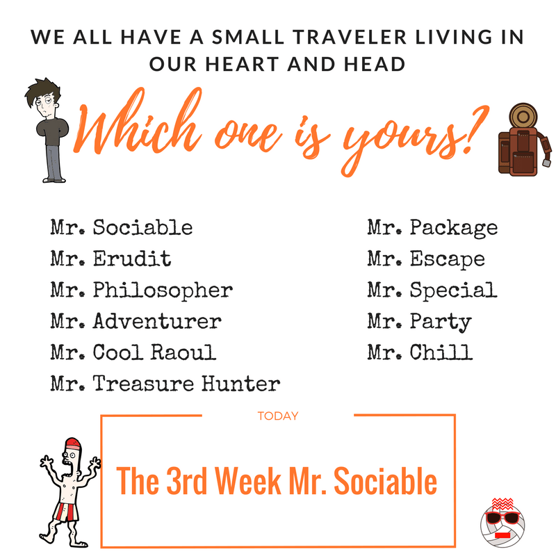 The 3rd Week Mr. Sociable best trip to Colombia