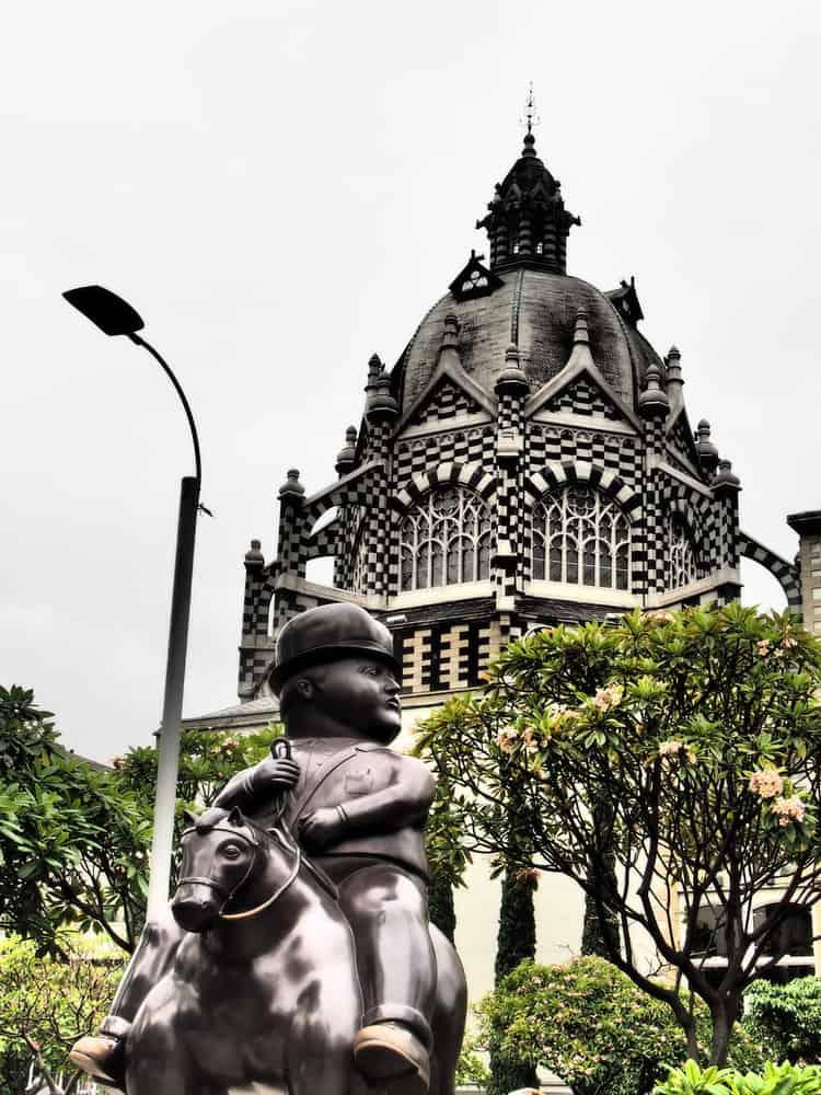 Botero's Sculpture on a square in Medellin