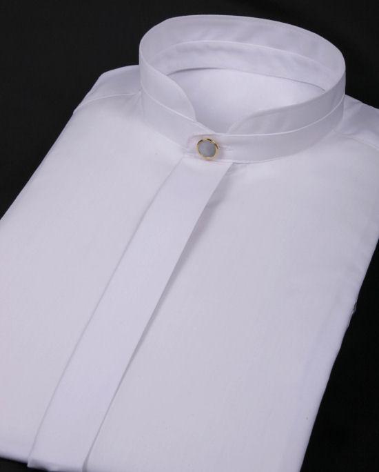 WHITE MANDARIN COLLAR Shirt  Shirts Tailored Mandarin