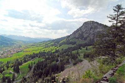 Die Serpentinen am Oberjochpass