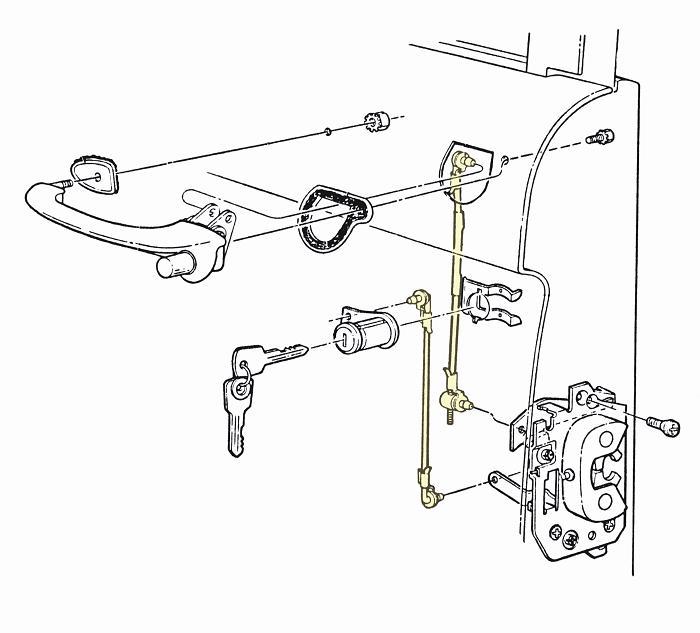 Ford bronco latch rod