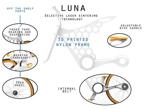 Luna, le vélo imprimé en 3D